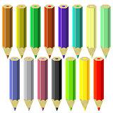 Set of Colorful Pencils