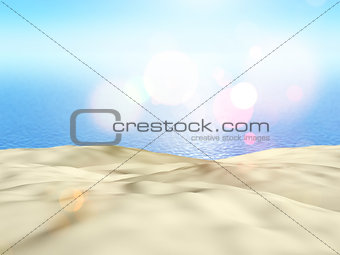 3D close up of sand