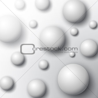 Abstract spheres background