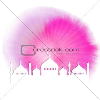 Watercolour Ramadan background