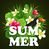 Decorative summer background