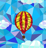 Hot air balloon polygon pattern