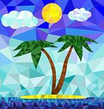 Polygon island image