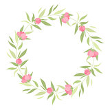 Wreath with grass and flowers