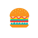 Vector delicious burger icon