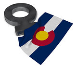 female symbol and flag of colorado - 3d rendering