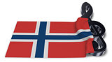 clef symbol and flag of norway - 3d rendering
