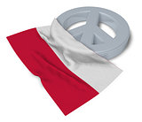 peace symbol and flag of poland - 3d rendering