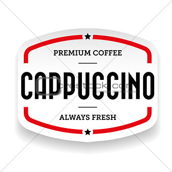 Cappuccino vintage stamp vector