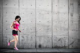Athletic woman runner