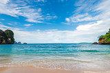 Beautiful sea and sand in the resort of Krabi Thailand