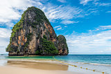 Beautiful scenic rock in the Andaman Sea off the coast of Thaila