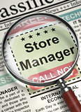 Store Manager Job Vacancy. 3D.