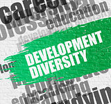 Development Diversity on Brick Wall.
