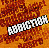 Medicine concept: Addiction on the Yellow Wall .