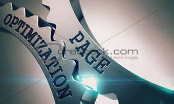 Page Optimization - Mechanism of Metal Cog Gears . 3D .