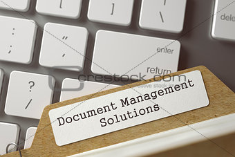Card File with Inscription Document Management Solutions. 3D.