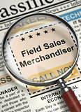 Field Sales Merchandiser Hiring Now. 3D.