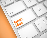 Fresh Idea - Message on the White Keyboard Key. 3D.