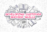 Developing Customer Service Skills - Business Concept.