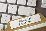 Folder Register with Inscription Financial Solutions. 3D.