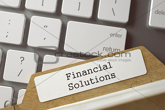Folder Register with Inscription Financial Solutions. 3D.