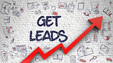Get Leads Drawn on White Wall. 3D.