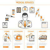 medicine and healthcare infographics