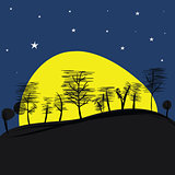 Landscape with Supermoon