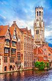 Medieval bell tower Belfort van Brugge
