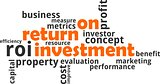 word cloud - return on investment