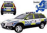 Sweden Police Car