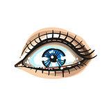 Eye on white background. logo. Vector illustration