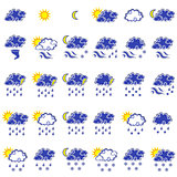 Set of thirty forecast weather icons