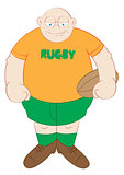 rugby player cartoon