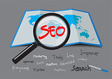 SEO Search Engine Optimization. vector illustration.