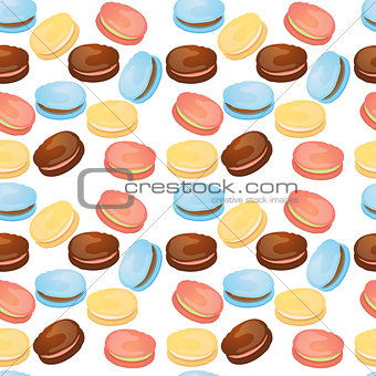 Appetizing pattern with macaroons