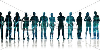 Business People Standing