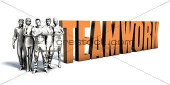 Business People Teamwork Art