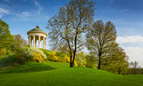 Monopteros temple in the English garden, Munich Bavaria, Germany