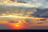 sunset sky, panoramic view