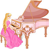 Princess Playing the Piano
