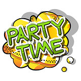 Party Time - Comic book style word.