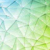 Low poly tech brochure elements design