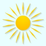 Vector sun icon graphic design