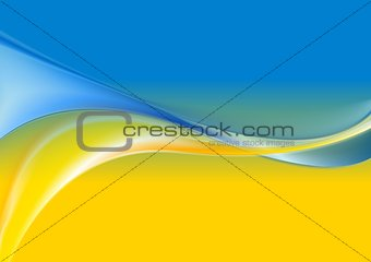 Wavy background Ukrainian flag colors