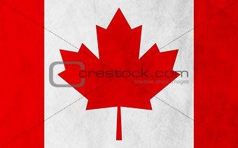 Canadian grunge flag background