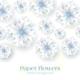Paper flower. Background. Vector illustration