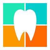 Tooth icon, symbol illustration