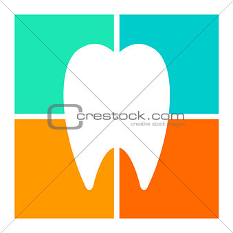 Tooth icon, symbol illustration